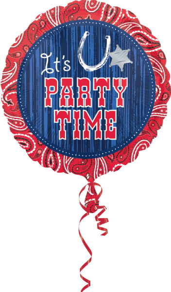 Cowboy - Its Party Time Balloon